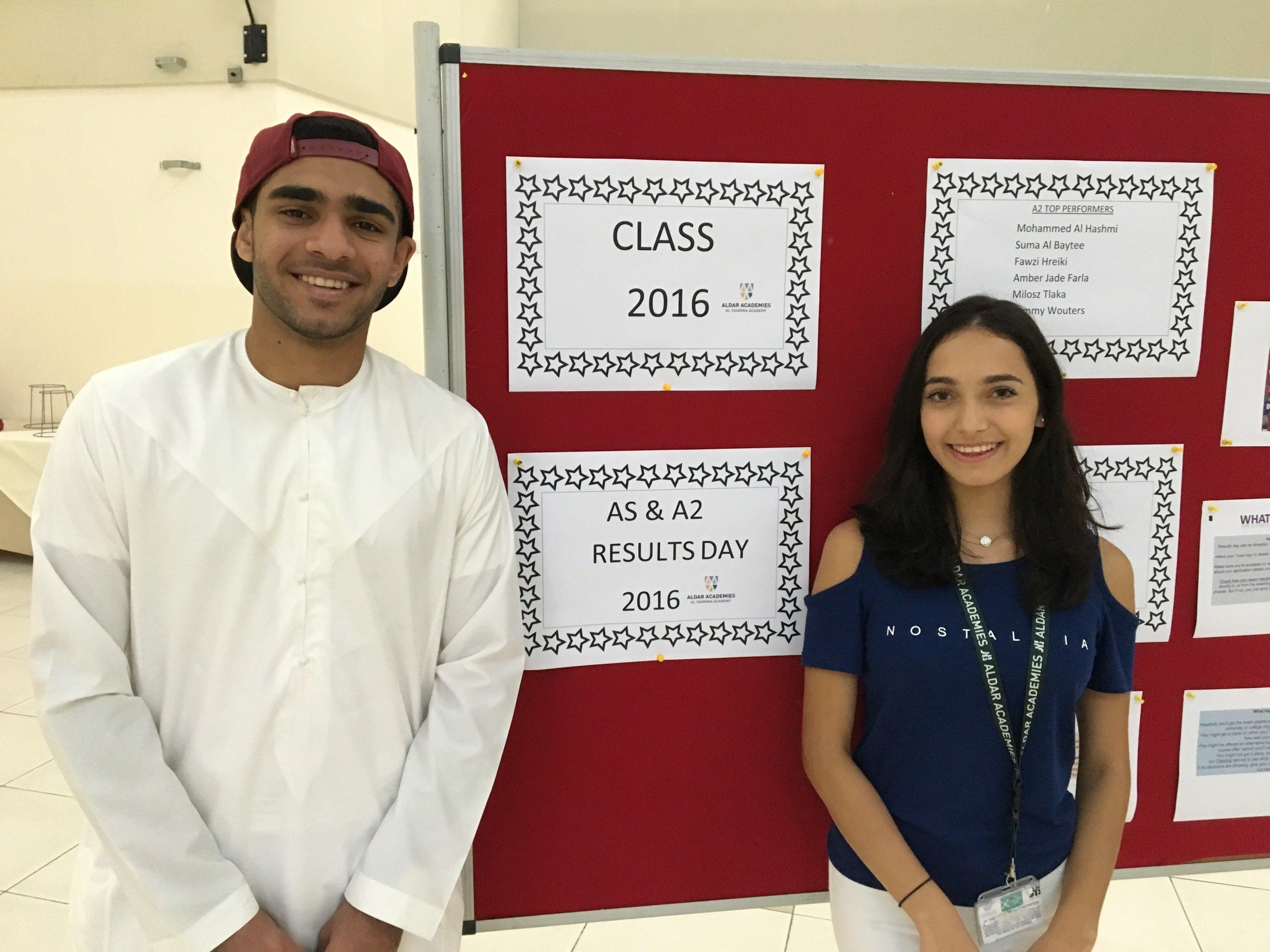 Best ever A-level results for Aldar Academies' Al Yasmina Academy