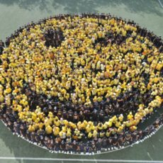 THE MILLENNIUM SCHOOL SMILES. Students form first ever human smiley in U.A.E.
