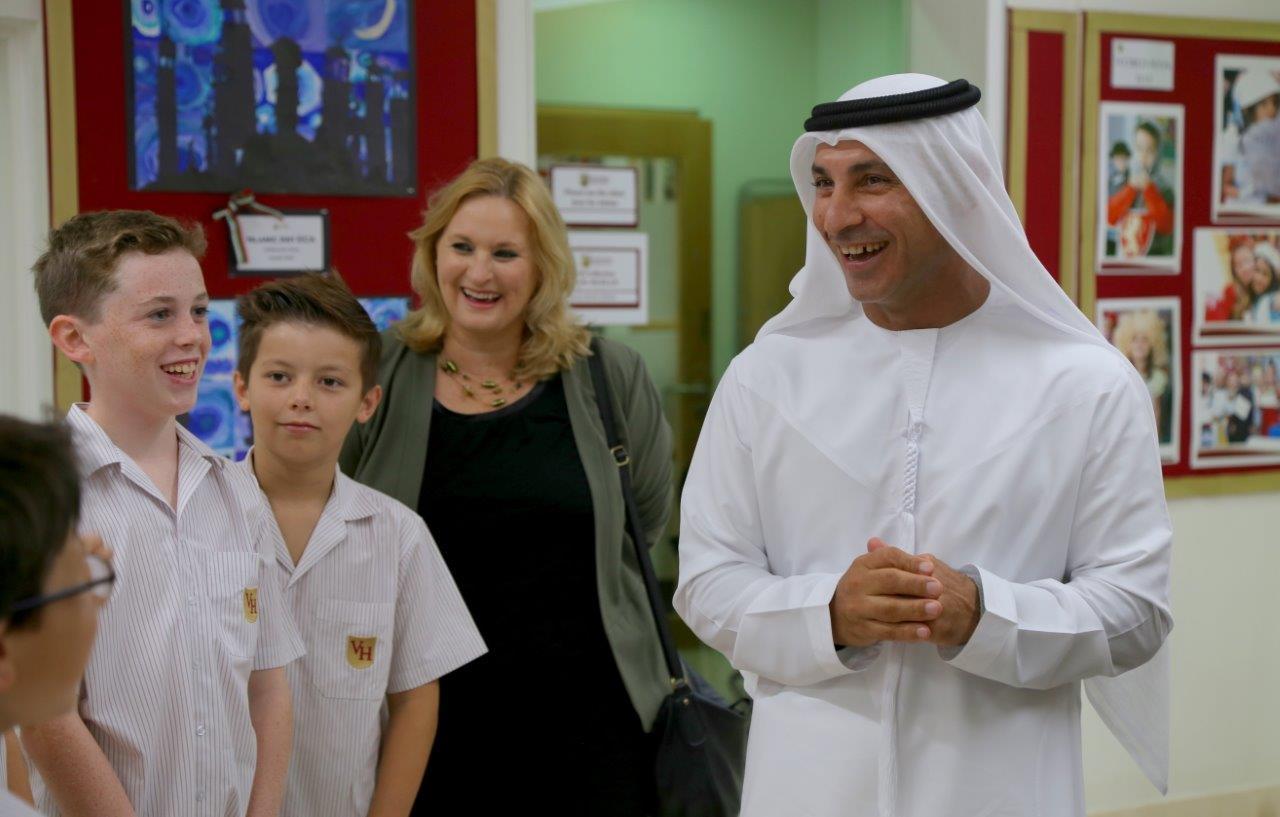KHDA CEO Dr. Abdulla Al Karam visits Victory Heights Primary School